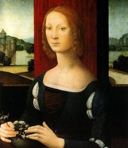 Why have I included a painting of the controversial medieval Italian countess Caterina Sforza? You'll have to read the book to find out...