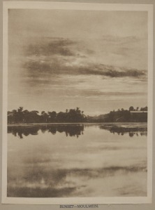 'Sunset Moulmein' from Mrs. Ernest Muriel, Pictures from Lotus Land (Rangoon, 1900)