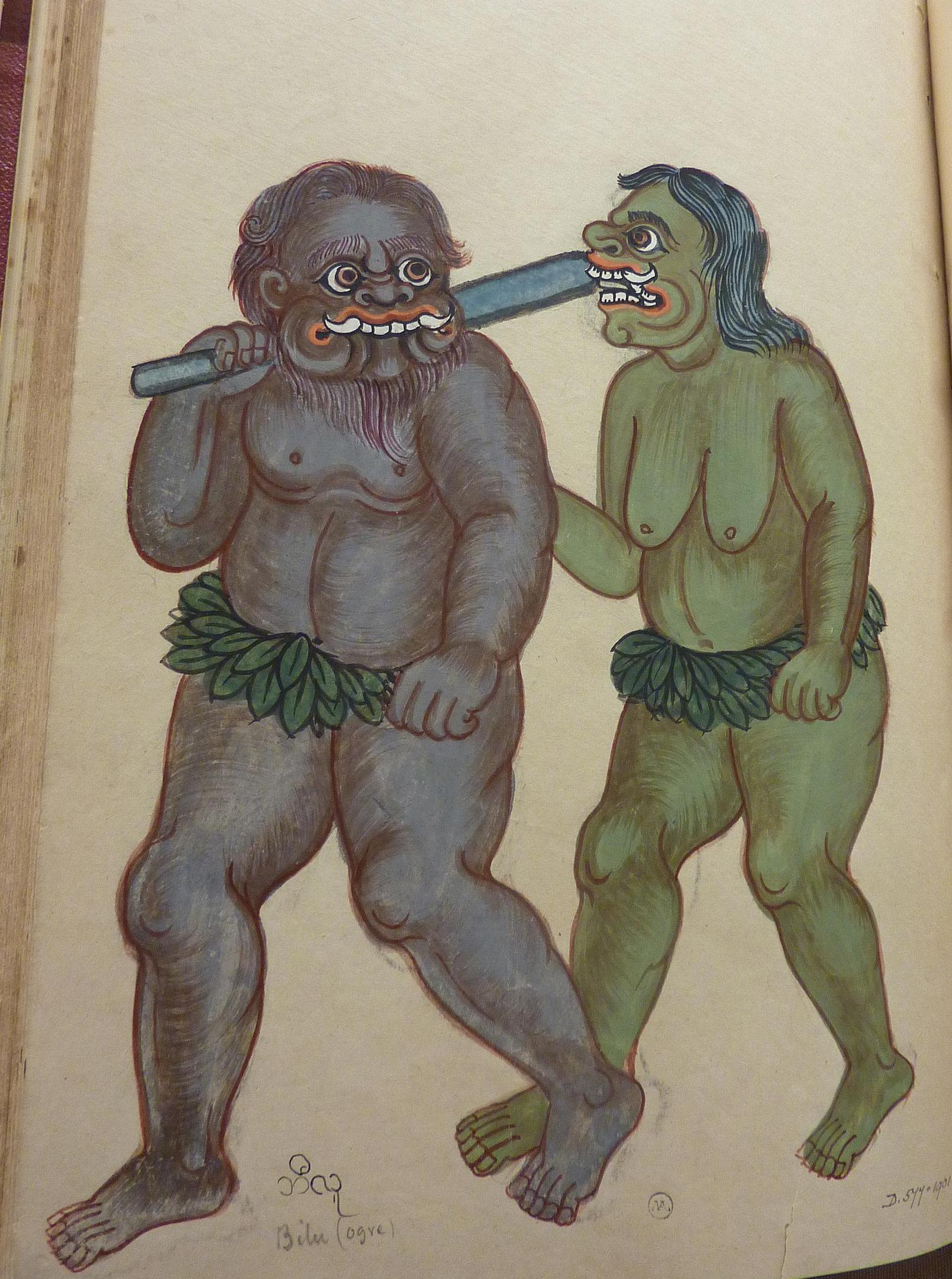 D.577-1901 Savage people - cannibals supposed to inhabit Andamans - Bilu (ogre)